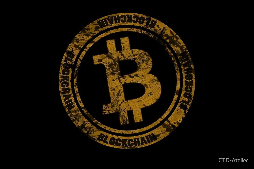 Gold Bitcoin Logo Design by CTD-Atelier