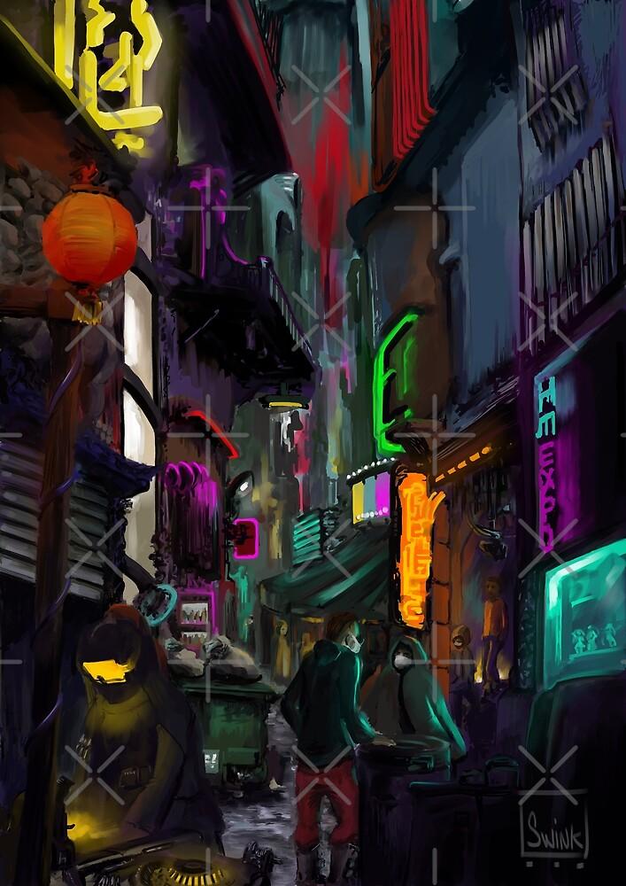 Cyberpunk Alley by Swinnen
