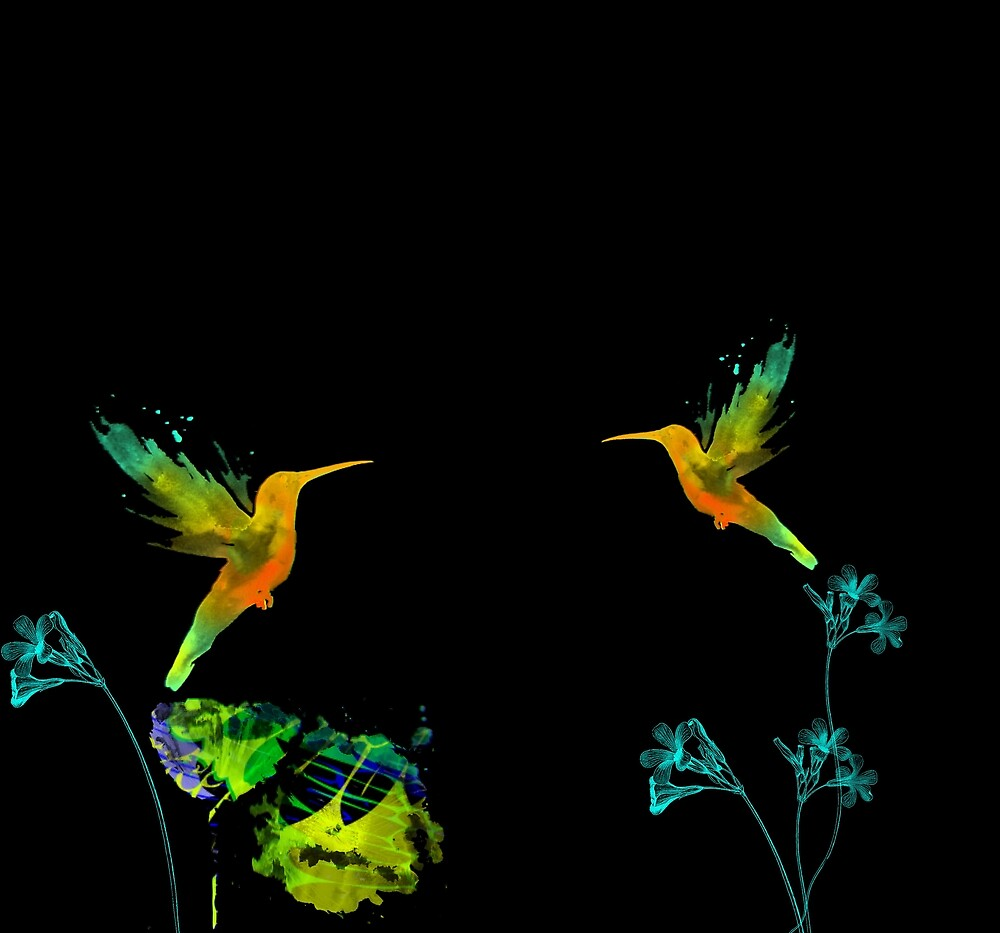 Floral and Birds by FlyDesignStore