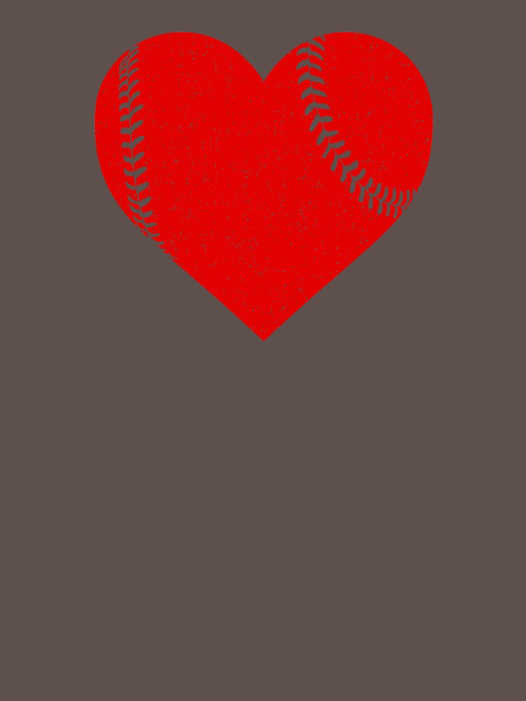 Baseball Lover Red Heart Shirt by Clort