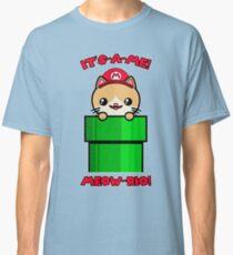 Cute Cat Kawaii Funny Mario Parody Classic T-Shirt