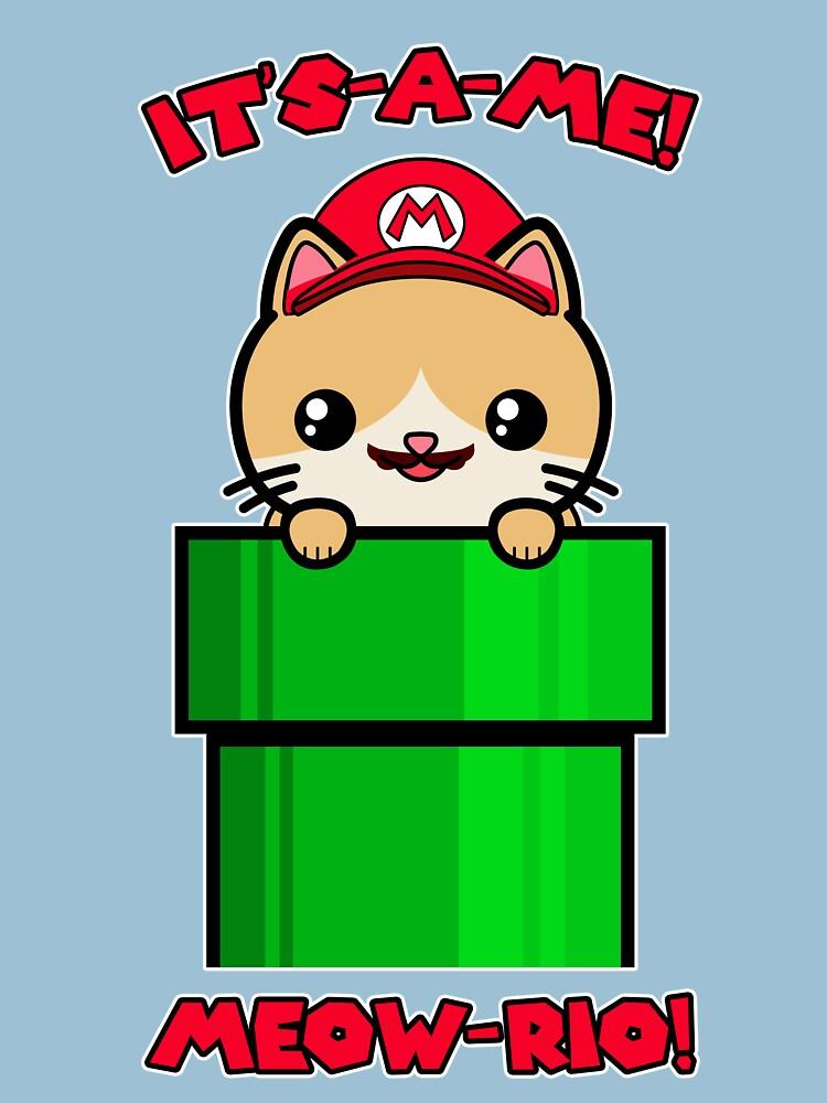 Cute Cat Kawaii Funny Mario Parody by awesomekawaii