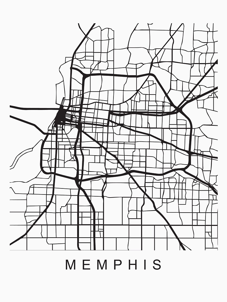 Memphis Minimalist City Street Map Dark Design by Andrewkgolf