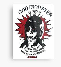 LUX INTERIOR T SHIRT - GOD MONSTER!  Metal Print