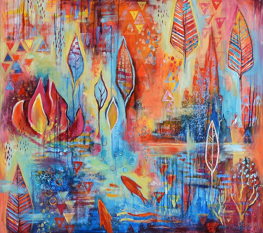 Red fishes | Art by Marianna Ochyra