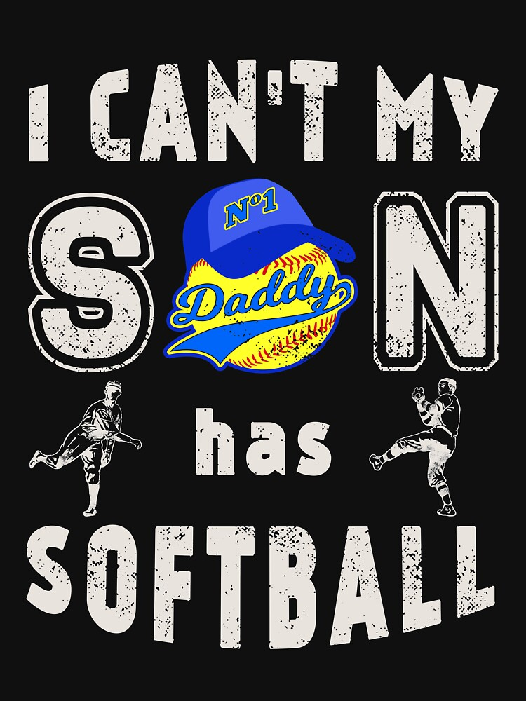 Softball Father Fathers Day Men Daddy Dad by TheLariat