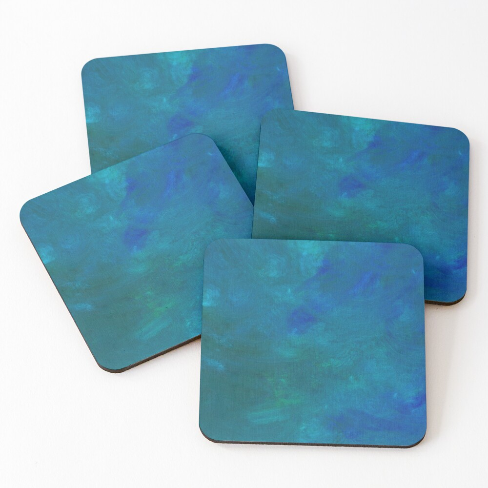 Phthalo Blend Coasters (Set of 4)