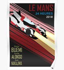 Retro inspired Le Mans poster Poster