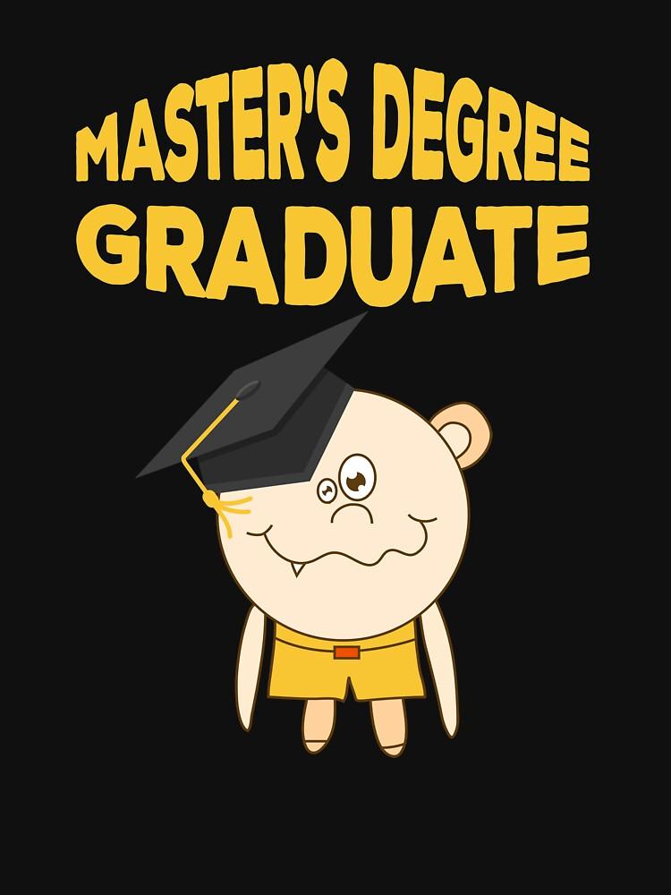 Master's Degree Graduation 2018 Funny Graduate by TheLariat