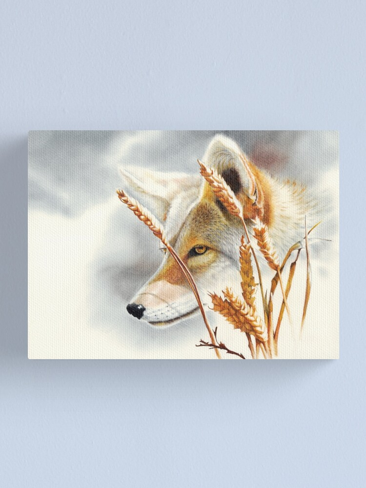 Alternate view of Song Dog - coyote  Canvas Print