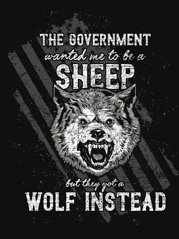 Wolf government policy sheep by GeschenkIdee