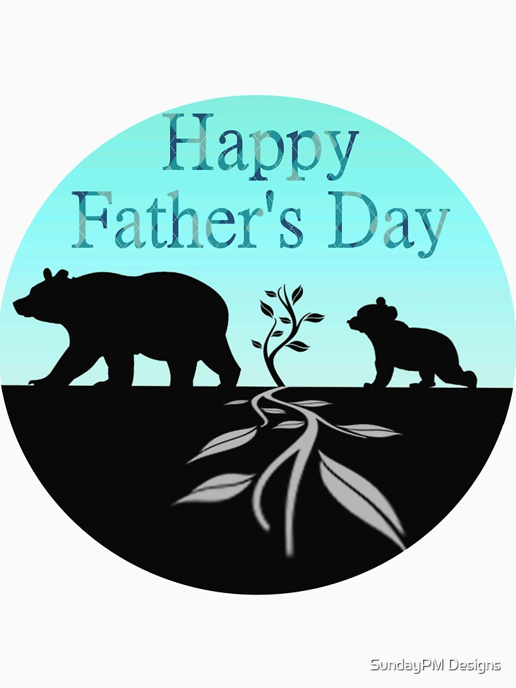 Father's Day Bear Logo T-shirt by grace-designs