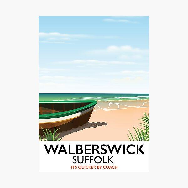Walberswick Suffolk travel poster Photographic Print