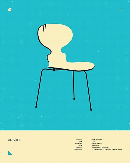 ANT CHAIR (1952) by JazzberryBlue