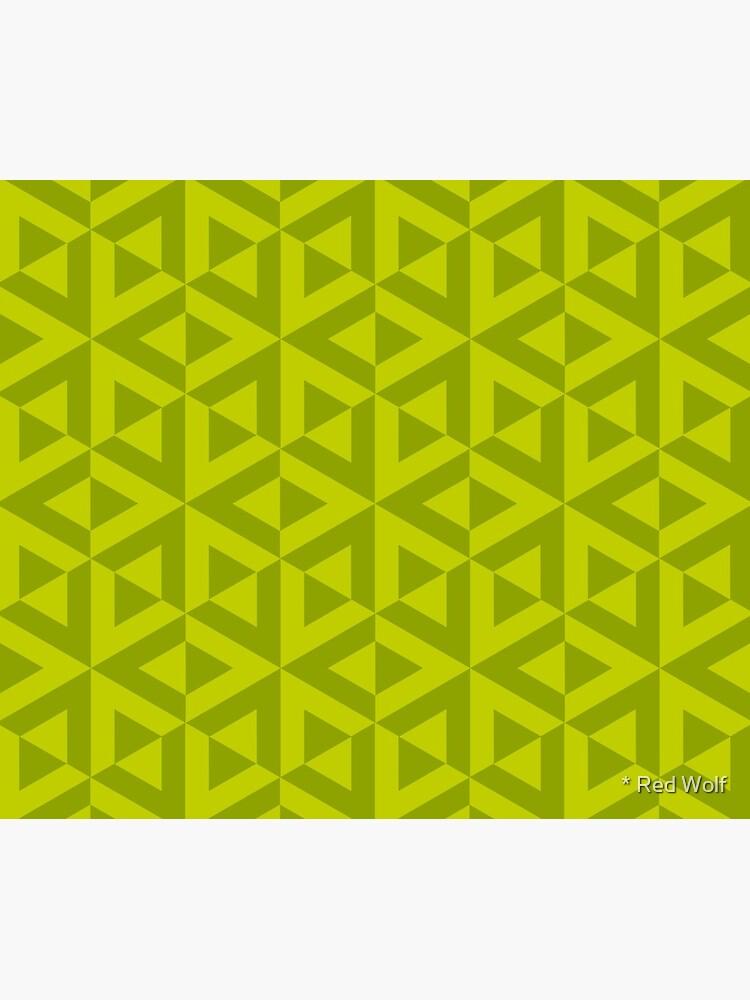 Geometric Pattern: Cube Split: Green by redwolfoz
