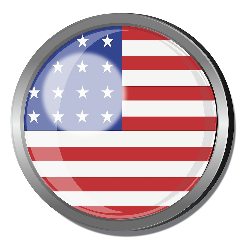 America Flag Badge by praaf