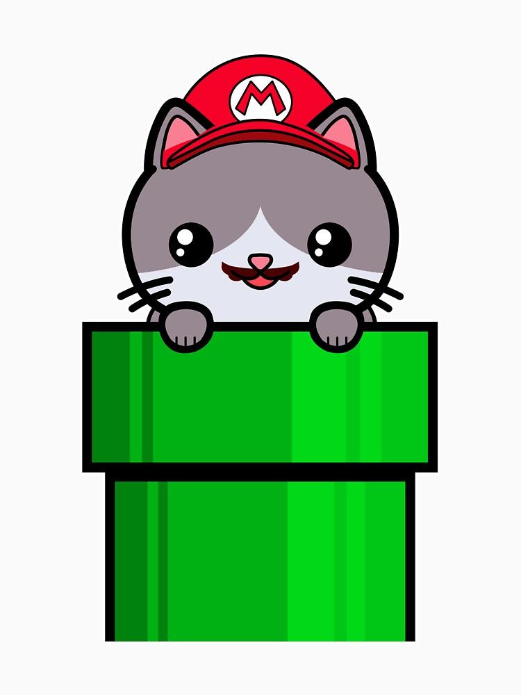 Cat Cute Funny Kawaii Mario Parody by awesomekawaii
