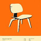 PLYWOOD LOUNGE CHAIR (1946) by JazzberryBlue
