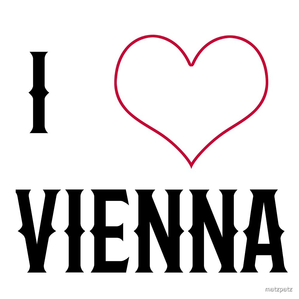 I love Vienna, city, cities, rock, saying, sayings, gift, gift idea by matzpatz