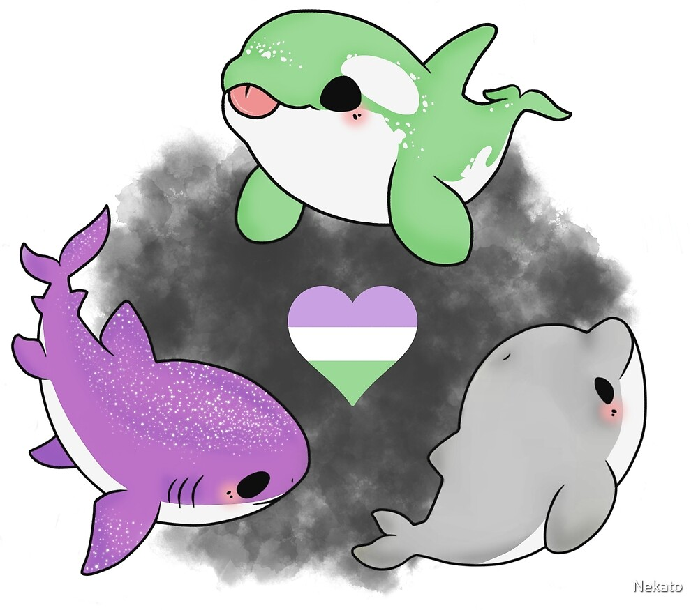 Genderqueer pride animals by Nekato