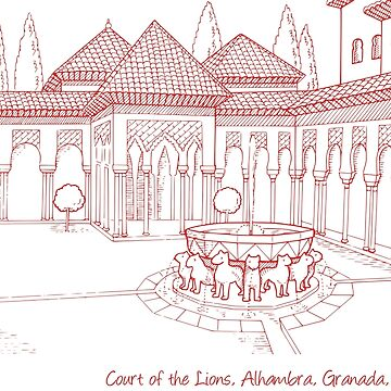Alhambra Court of the Lions 2 by twgcrazy
