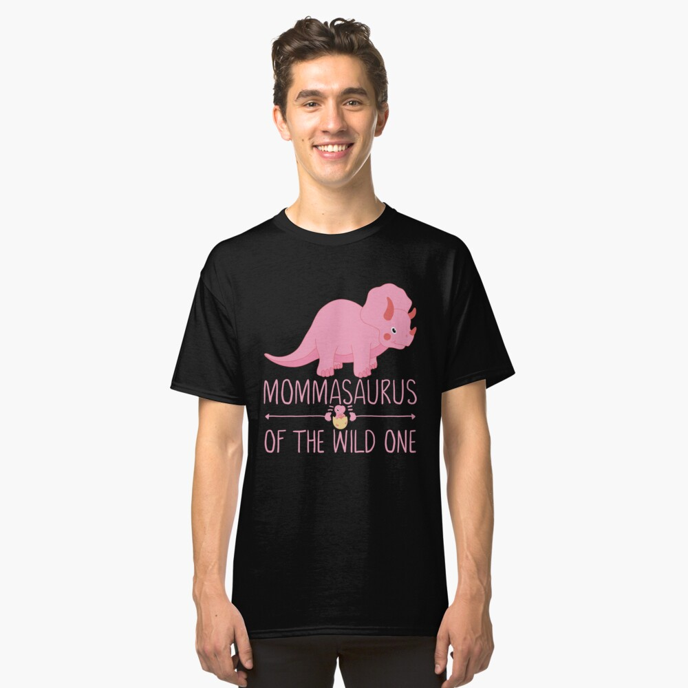 Momma Saurus Funny Gift Classic T-Shirt Front
