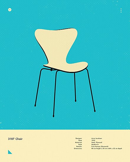 3107 CHAIR (1955) by JazzberryBlue