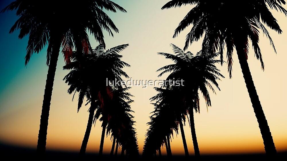 Palm Tree sunset cool peaceful design by lukedwyerartist