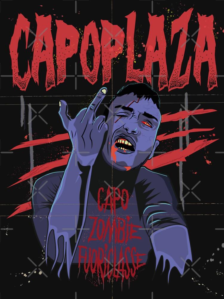 Capo Plaza capoplaza rapper rap italy italia music salerno zombie art by domskalis
