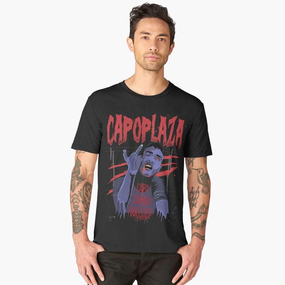 Capo Plaza capoplaza rapper rap italy italia music salerno zombie art Men's Premium T-Shirt Front
