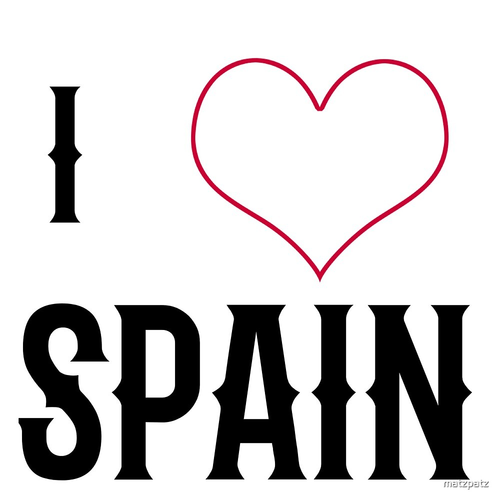 I love Spain, country, Europe, city, cities, rock, saying, sayings, gift, gift idea by matzpatz