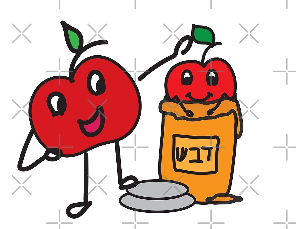 Apple and honey cute doodle by sigdesign