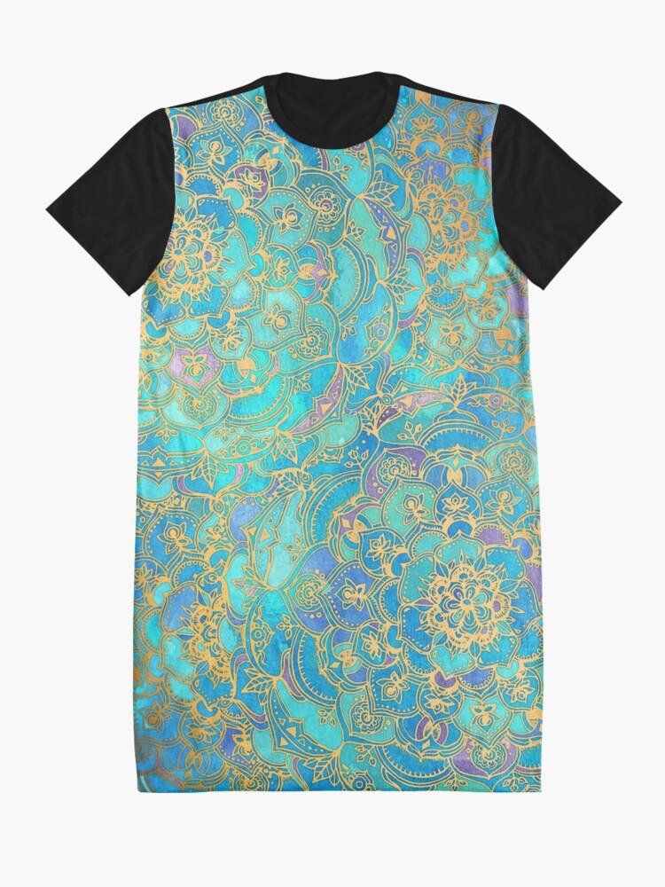 Vista alternativa de Vestido camiseta Sapphire & Jade Stained Glass Mandalas
