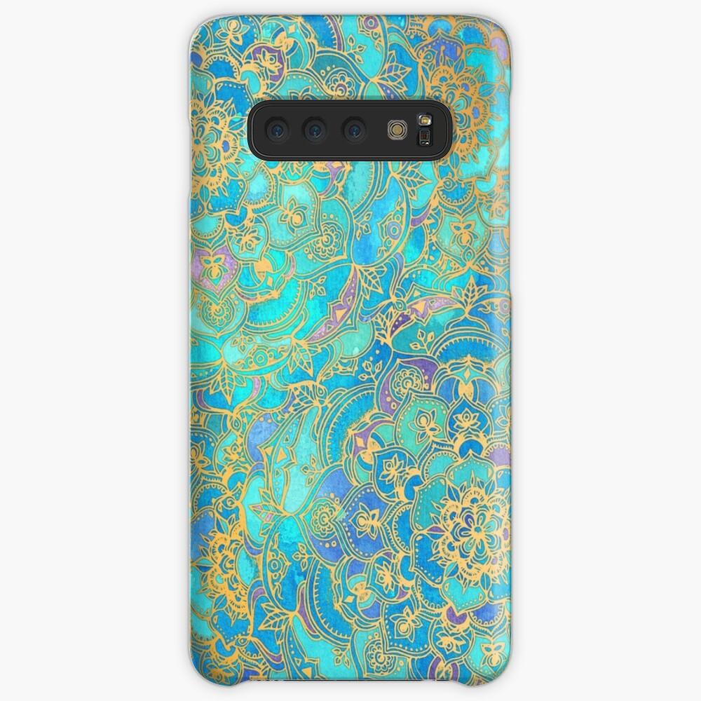 Sapphire & Jade Stained Glass Mandalas Cases & Skins for Samsung Galaxy