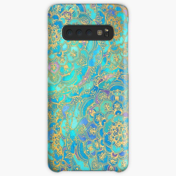 Sapphire & Jade Stained Glass Mandalas Samsung Galaxy Snap Case