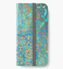 Vinilo o funda para iPhone Sapphire & Jade Stained Glass Mandalas