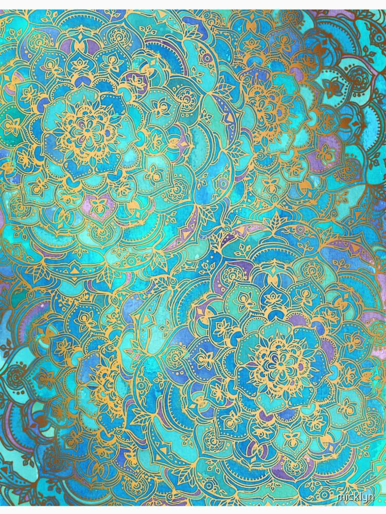 Sapphire & Jade Stained Glass Mandalas de micklyn