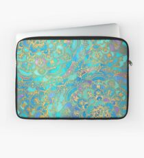 Sapphire & Jade Stained Glass Mandalas Laptop Sleeve