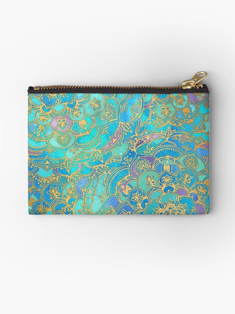 «Sapphire & Jade Stained Glass Mandalas» de micklyn