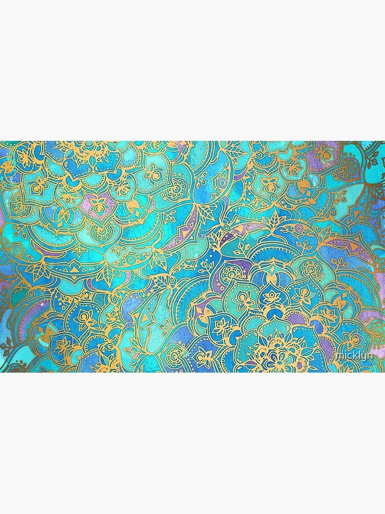 Saphir und Jade Glasmalerei Mandalas von micklyn