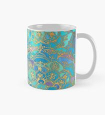 Sapphire & Jade Stained Glass Mandalas Mug