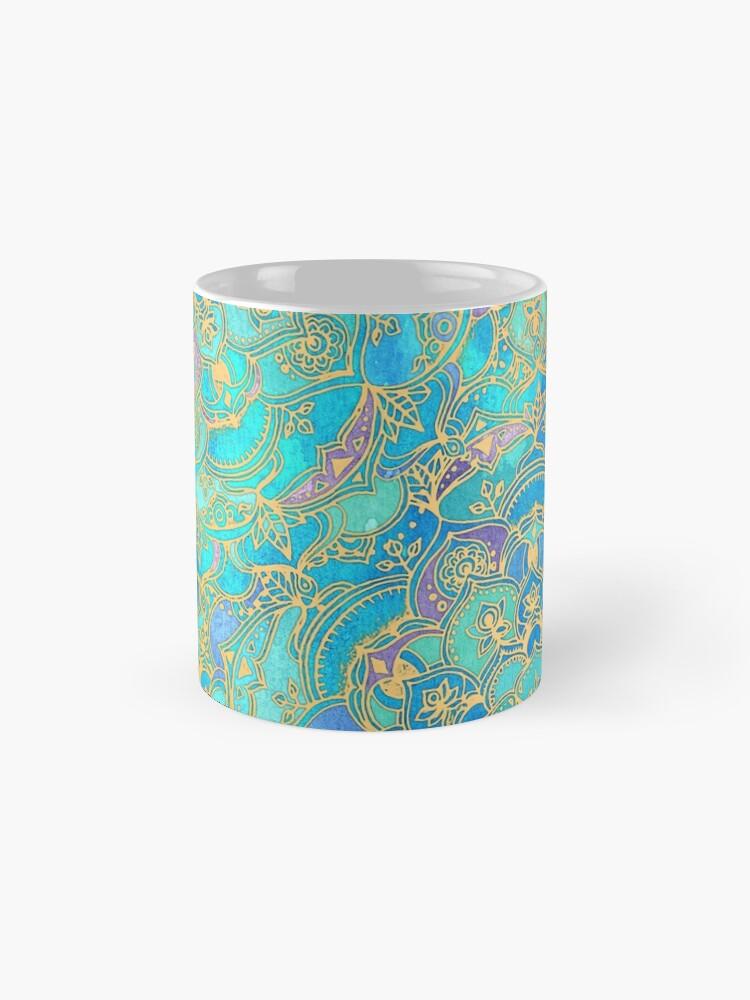 Alternative Ansicht von Saphir und Jade Glasmalerei Mandalas Tassen