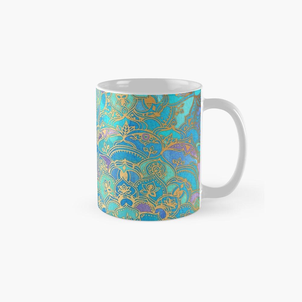 Saphir und Jade Glasmalerei Mandalas Tassen
