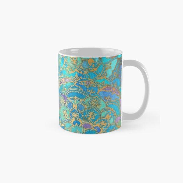Sapphire & Jade Stained Glass Mandalas Classic Mug