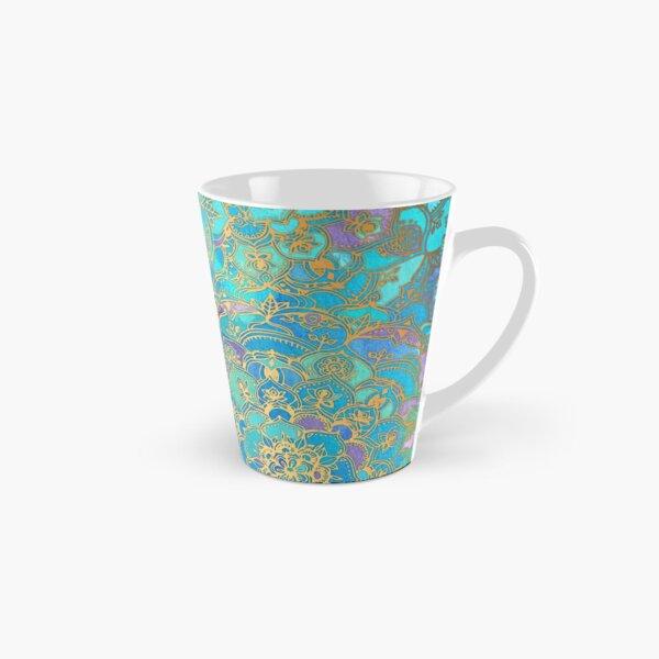 Sapphire & Jade Stained Glass Mandalas Tall Mug