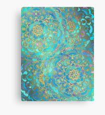 Sapphire & Jade Stained Glass Mandalas Canvas Print