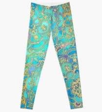Sapphire & Jade Stained Glass Mandalas Leggings