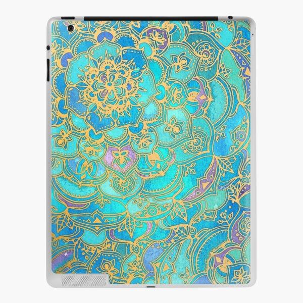 Sapphire & Jade Stained Glass Mandalas iPad Skin