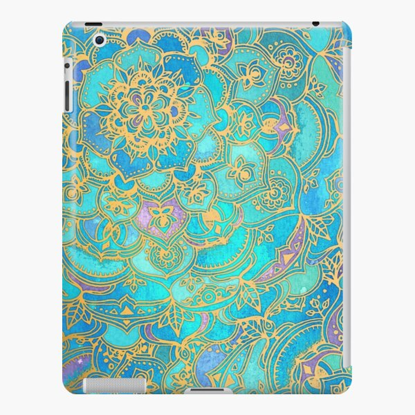 Sapphire & Jade Stained Glass Mandalas iPad Snap Case