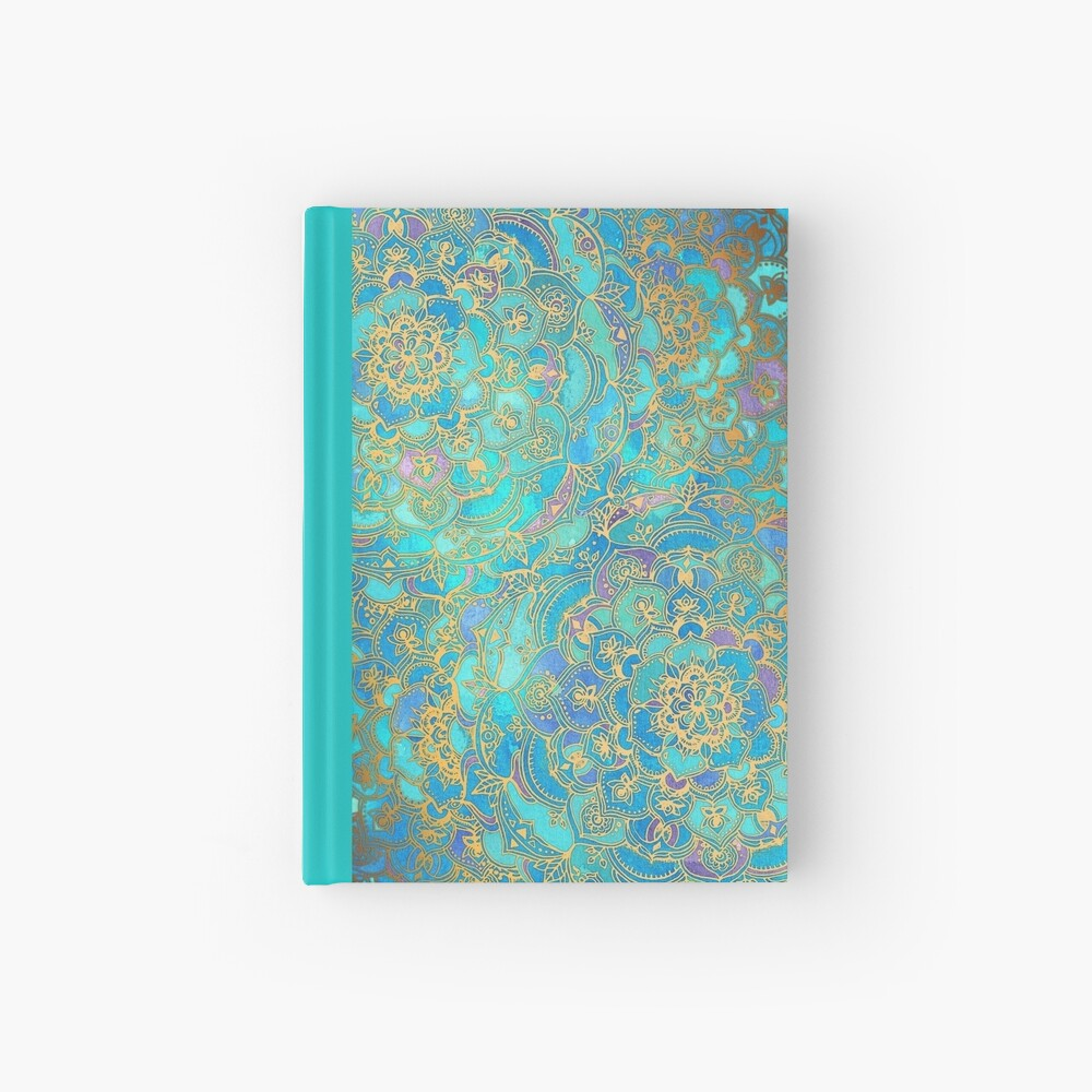 Sapphire & Jade Stained Glass Mandalas Hardcover Journal